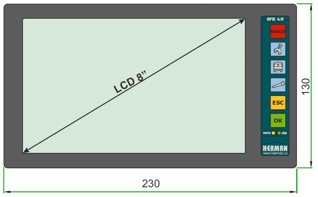 Velikost terminálu EPT 4.08.