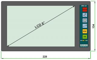 Рис 3: Водительский ЖК терминал EPT 4.08.