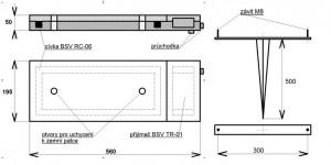Cívka přijímací kolejová - štěrkové podloží - BSV-RC 06.