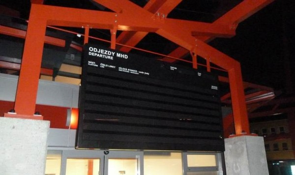 Big textual LED panel 80 x 280 - type ELP 411RE.