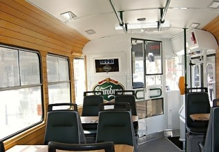 Pic. no.3: The interior of the beer tram (taken from Busportál.cz ©Jan Havíř)