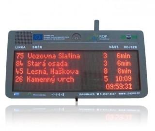 Рис.1: Светодиодная панель Интегрированной транспортной системы Южно-Моравского края под прямым солнечным излучением.