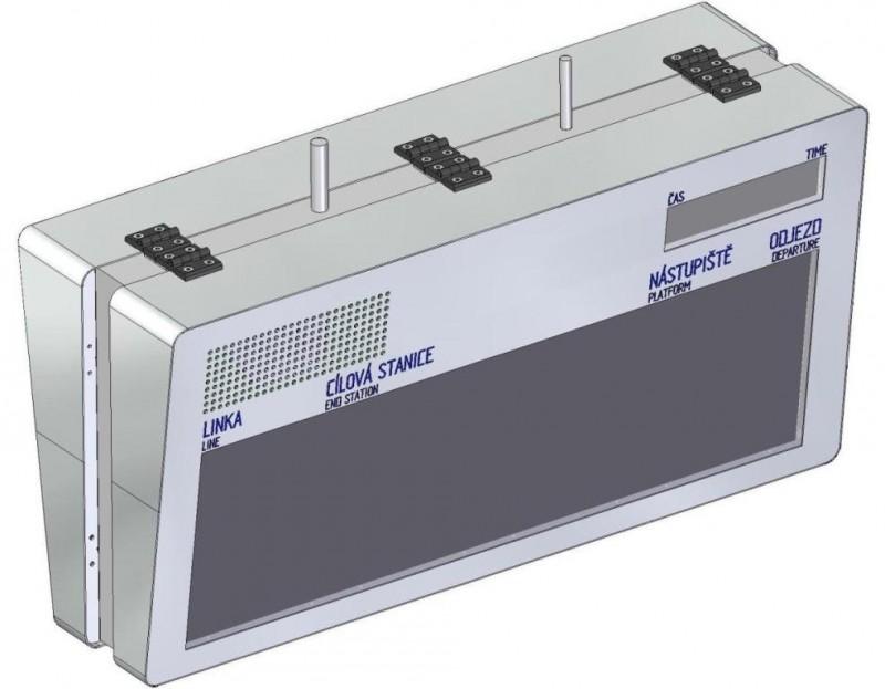 Grafický informační LED panel - zastávkový - ELP 310B-20 (nákres)