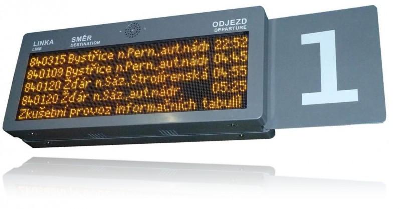 Grafický informační LED panel odjezdový - ELP 320.