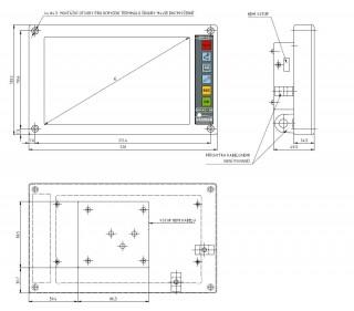 Obr. č.5: Rozměry zápustného LCD terminálu.