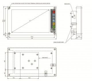 Pic. no.5: Measurements of the embedded LCD terminal
