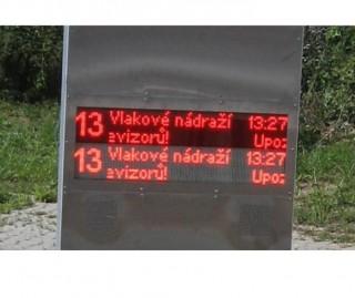 Рис.2: Светодиодная панель транспортной компании г. Чешке-Будеевице под прямым солнечным излучением.