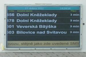 LCD panel – negativní zobrazení textu.