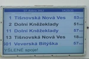 LCD panel - pozitivní zobrazení textu
