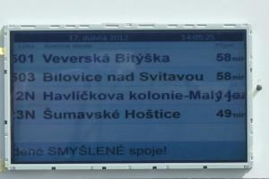 LCD panel - pozitivní zobrazení textu.