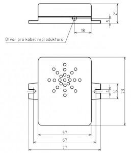 Mechanické provedení reproduktoru trylku.