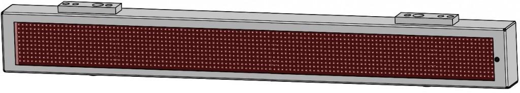 Vozidlový LED panel vnitřní jednořádkový - VLP 10 × 120.