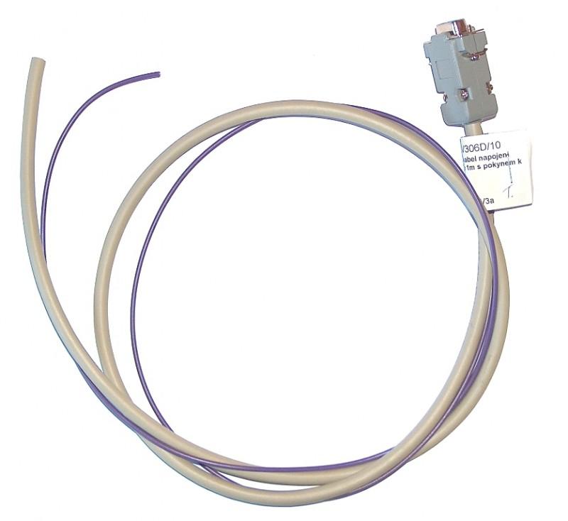 Ukázka kabelu připojení povelových přijímačů KNEV - standardní provedení.