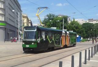 Foto z představení pivní tramvaje 15.6.2013