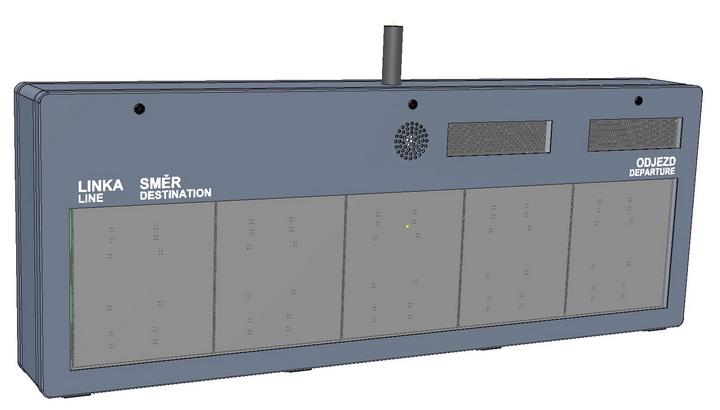 Grafický jednobarevný LED panel - ELP 33x.
