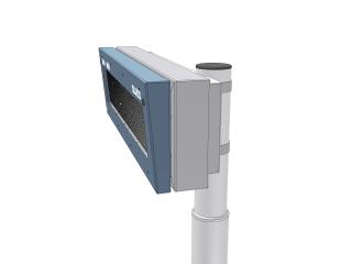 Рис.3: Вариант светодиодной панели отправления терминала (размер 30х160 светодиодных точек) - вид сбоку
