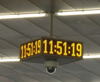 Pic. no.10: LED panel in the shape of a four-sided clock with a camera – ELP Q524E.
