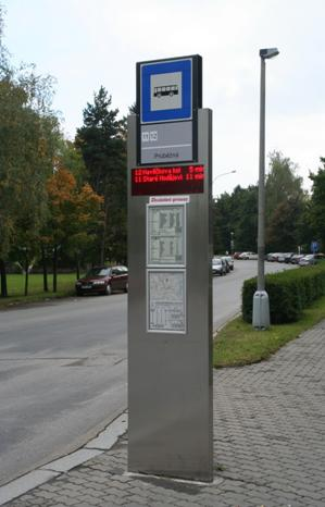 Pic. no.1: The ELP 10x digital stop signs in České Budějovice (supplied 70 pieces).