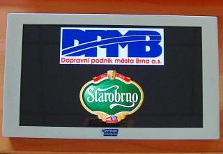 Obr. č.2: Vozidlový LCD panel - VCS185A - základní obrazovka