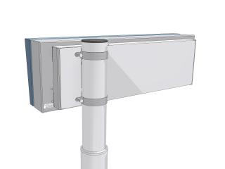 Рис.4: Вариант светодиодной панели отправления терминала (размер 30х160 светодиодных точек) - вид сзади
