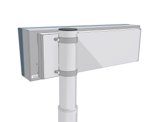 Pic. no.4:A terminal LED panel (size : 30x160 LED points) - rear view