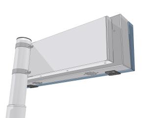 Рис.5: Вариант светодиодной панели отправления терминала (размер 30х160 светодиодных точек) - вид сзади 2