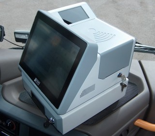The EPIS 5 FCC on-board computer with passenger checking