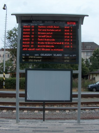 Multicolor combined text LED panel - the ELP 450 series - front view