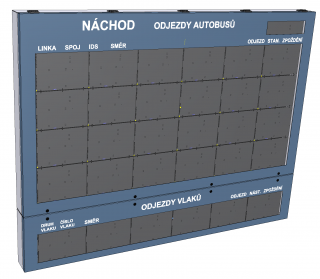 Visualization of multicolor combined text LED panel - the ELP 450 series