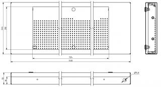 Mechanické provedení panelu VLP 19x112