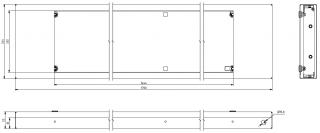 Mechanické provedení panelu VLP 19x144