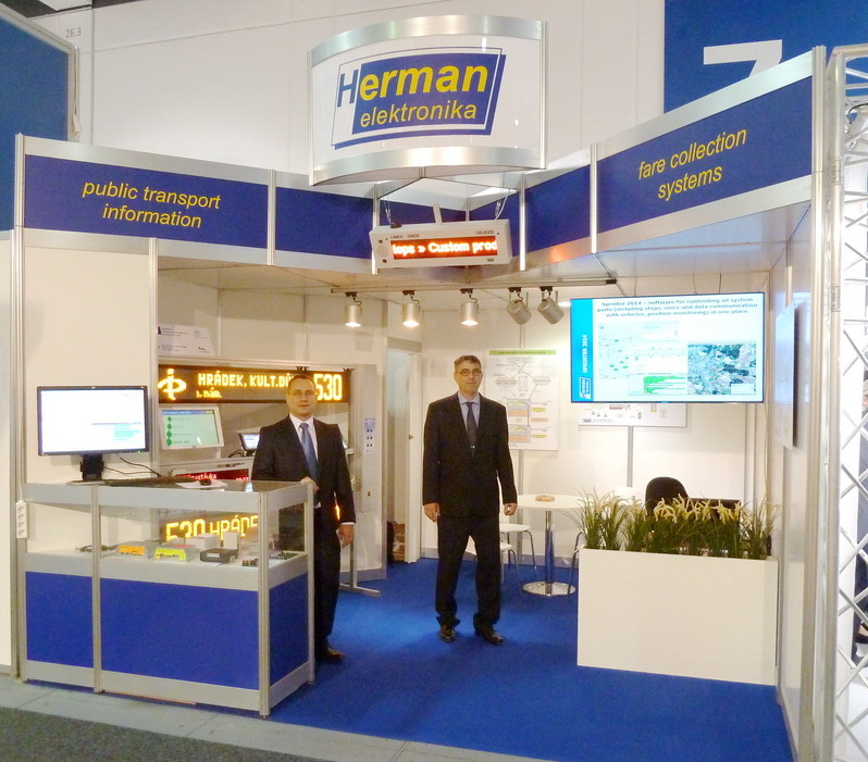 Our company's stand at InnoTrans 2014.