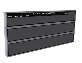 Obr. č.1: Skládaný panel ELP 683 (vícebarevný - základní velikost 30 x 240 cm).