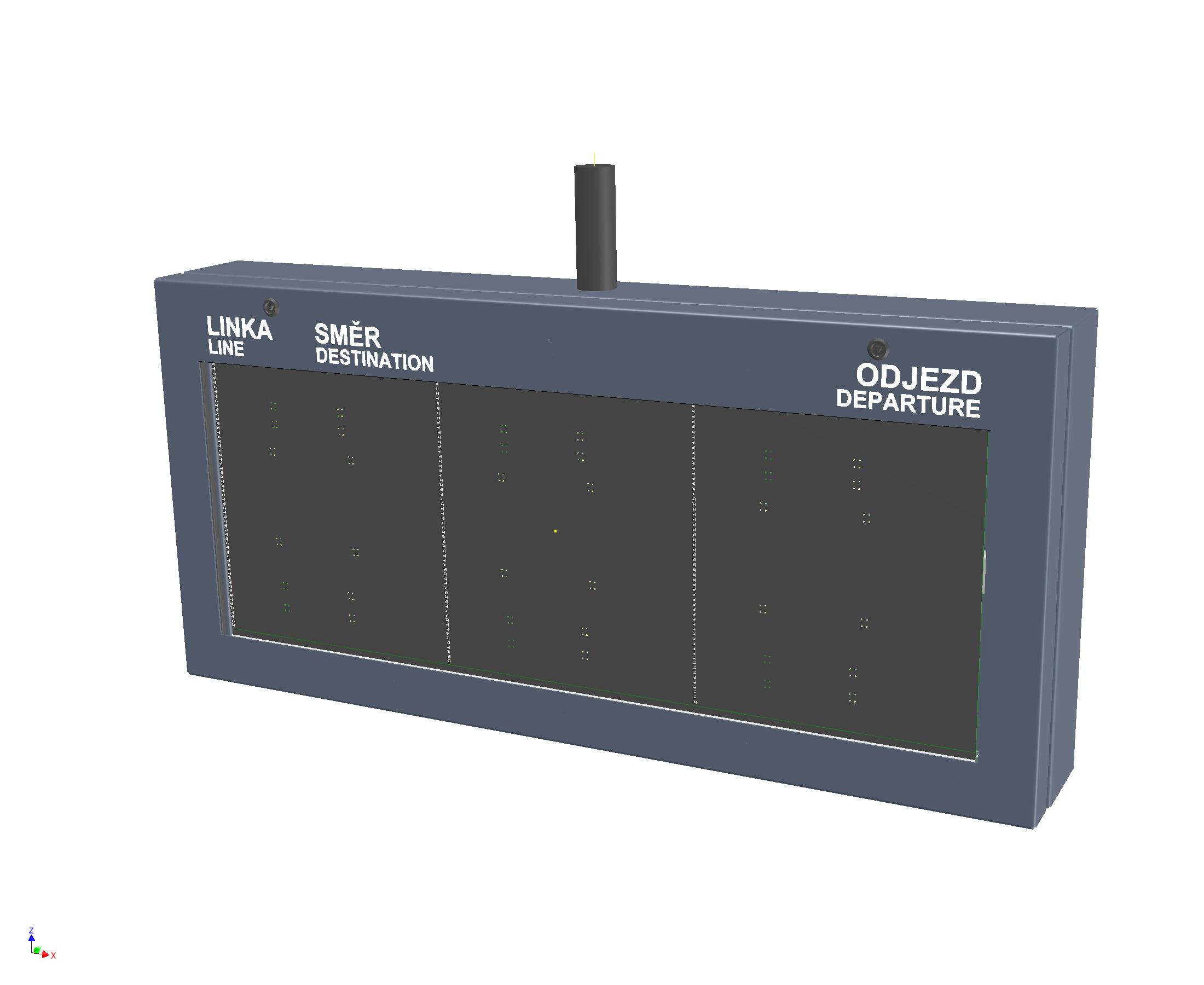 Koncept zastávkového LED panelu ELP 332