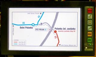 Obr. č. 8: Grafické zobrazení informace pro řidiče.