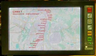 Obr. č.5: Přehledová mapa linky.