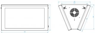 Obr. č.2: Mechanické rozměry panelu VCS185B