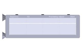 Obr. č. 4: ELP 403 - čelní pohled (popisky polí se mění dle zadání).