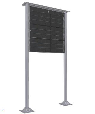 Obr. č.2: Skládaný panel ELP-696 (rozměry panelu jsou cca 240 x 240 cm).