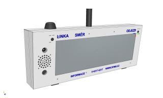 Vizualizace digitálního označníku ELP 152 - pohled zleva.