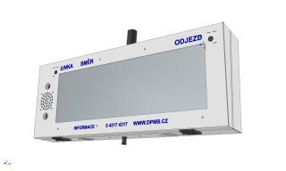 Vizualizace digitálního označníku ELP 152 - pohled zprava.