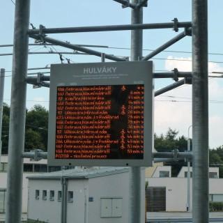 Obr. č.2: Velkoplošný panel ELP 602, umístěný na terminále Hulváky
