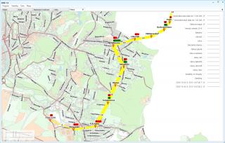 Obr. č.4: Mapový podklad se zobrazenou linkou.
