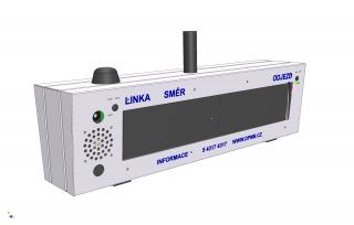 Oboustranný třířádkový digitální označník ELP 152B.