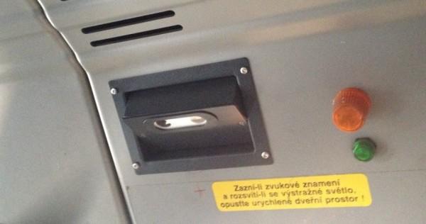 Obrázek 5: Ukázka senzoru umístěného nade dveřmi.