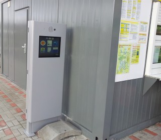 Instalace informačního kiosku K717 v Mostě