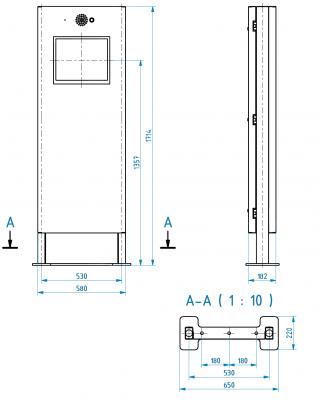 Obr. č. 5: Mechanické rozměry kiosku.
