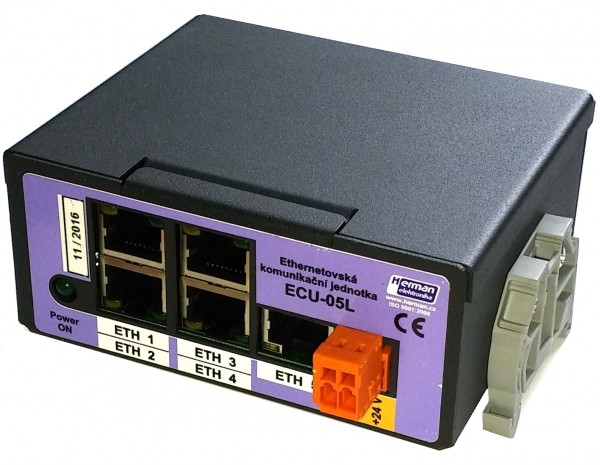 ECU-05L - Ethernet switch 5 ports, basic version.