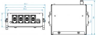 Montážní rozměru ECU-08L-H