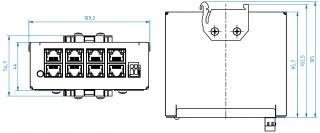 Montážní rozměry ECU-08L-V